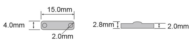 可应用于金属表面UHF超高频标签 RT-1504