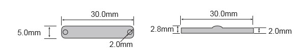 RFID超高频抗金属PCB标签 RT-3005